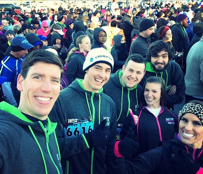 SERVPRO Sponsors CBRE at Hot Chocolate Run