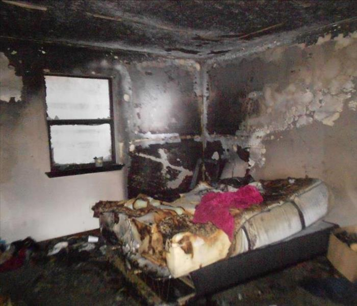 Fire in Residential Bedroom